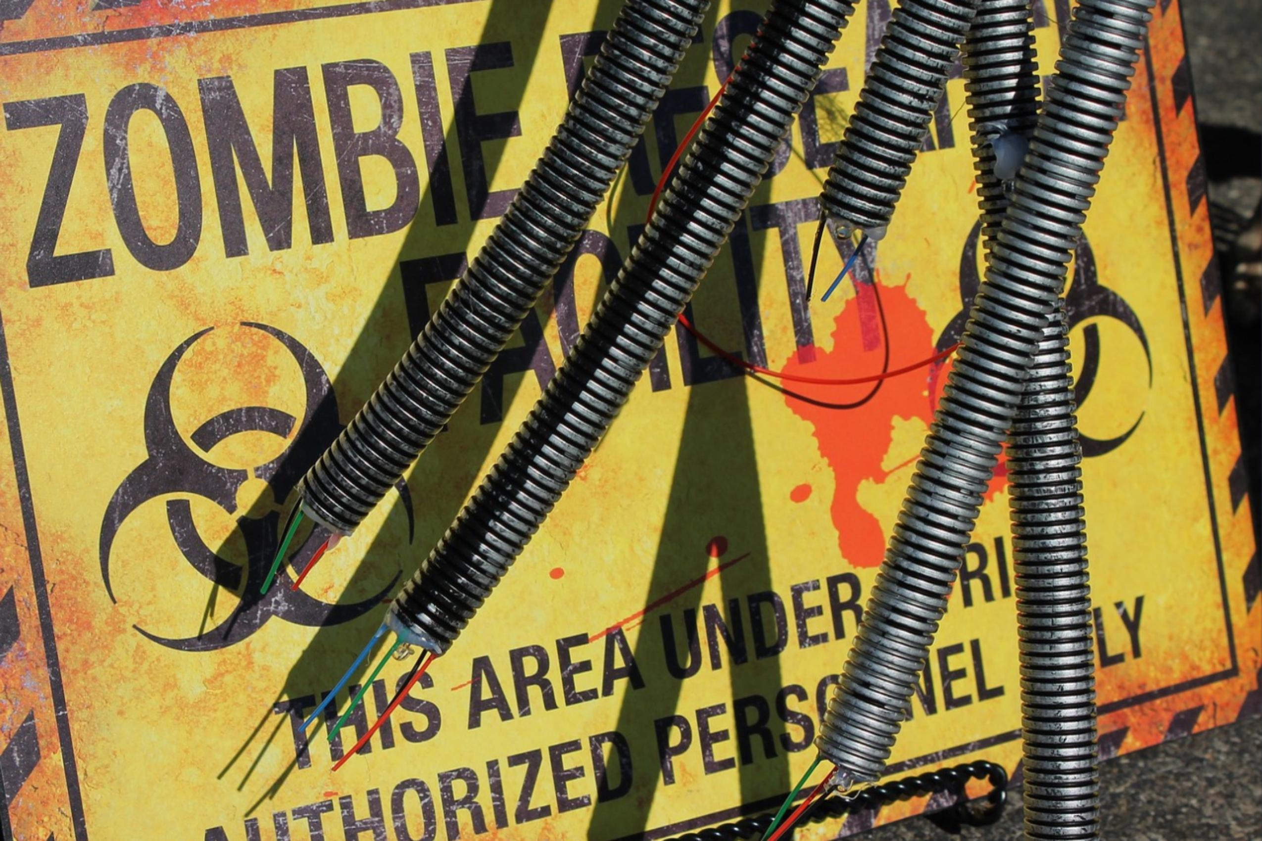 beware zombie sign